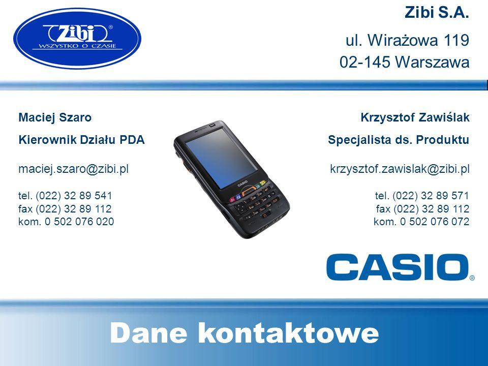 Dane kontaktowe Zibi S.A. ul. Wirażowa 119 02-145 Warszawa