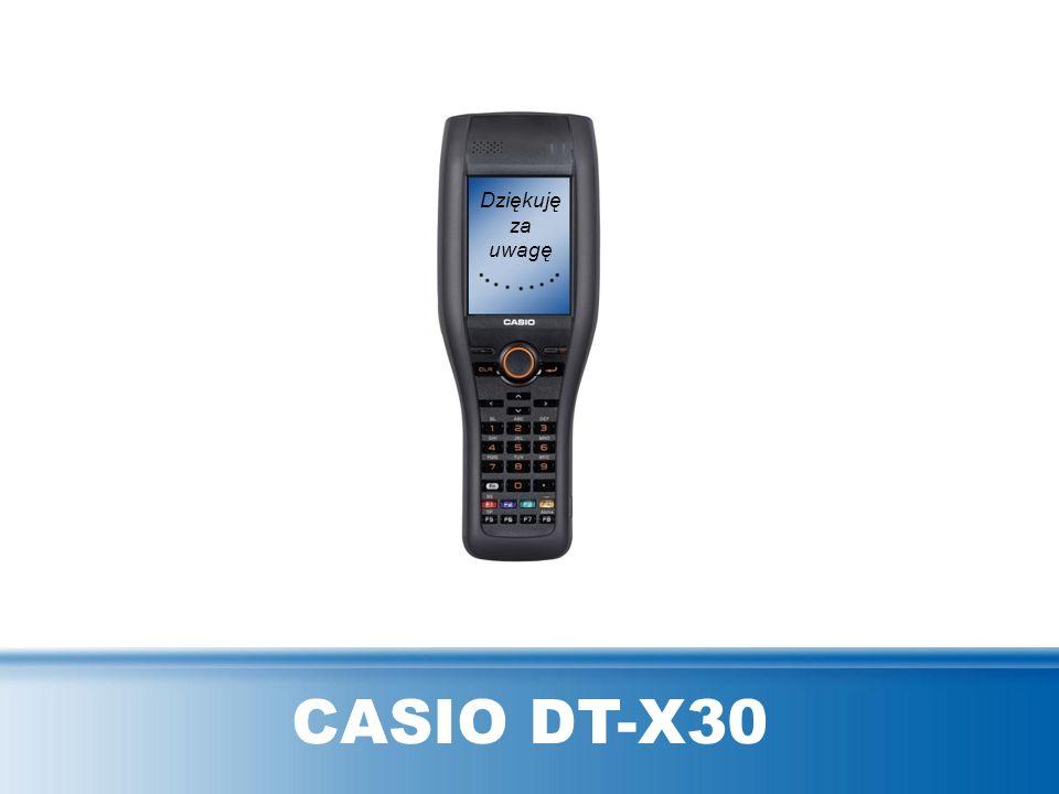 Dziękuję za uwagę CASIO DT-X30