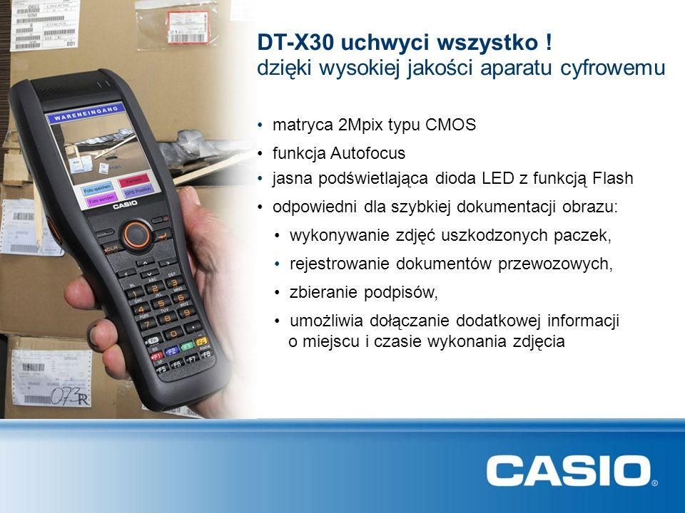 DT-X30 uchwyci wszystko ! dzięki wysokiej jakości aparatu cyfrowemu