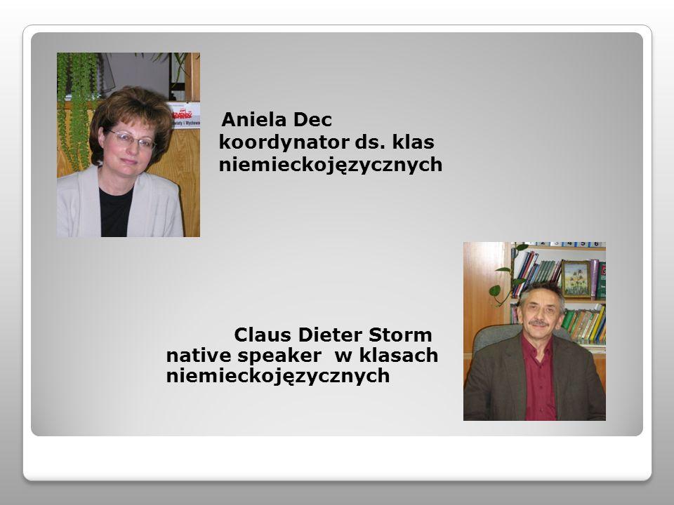 Aniela Dec koordynator ds. klas niemieckojęzycznych