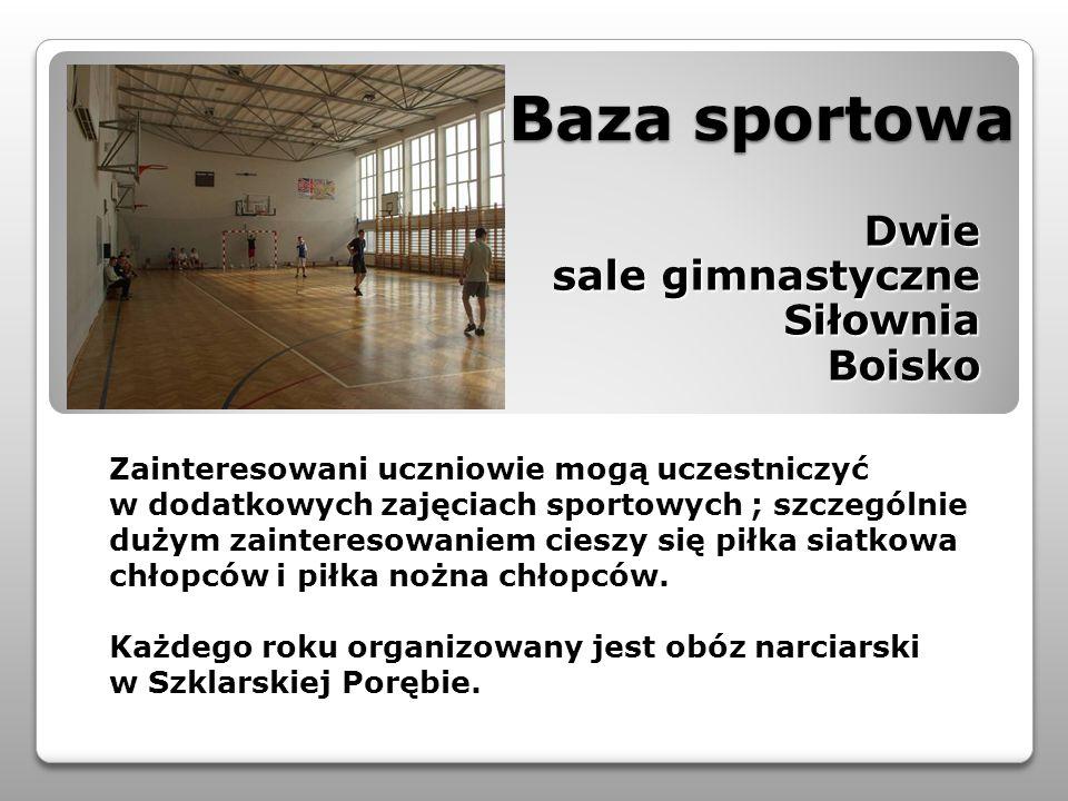 Dwie sale gimnastyczne Siłownia Boisko