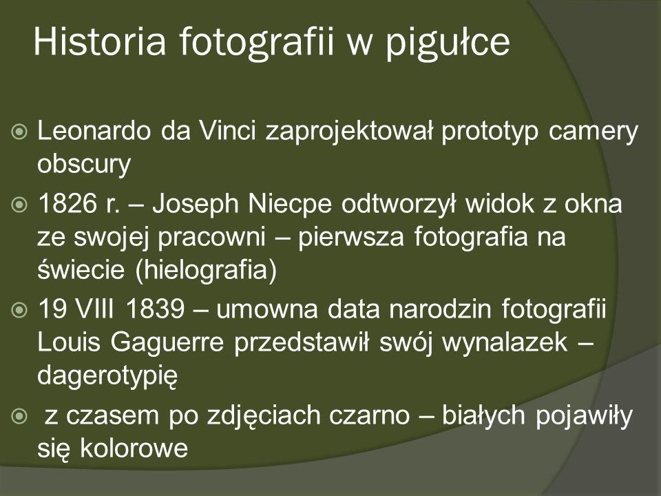 Historia fotografii w pigułce
