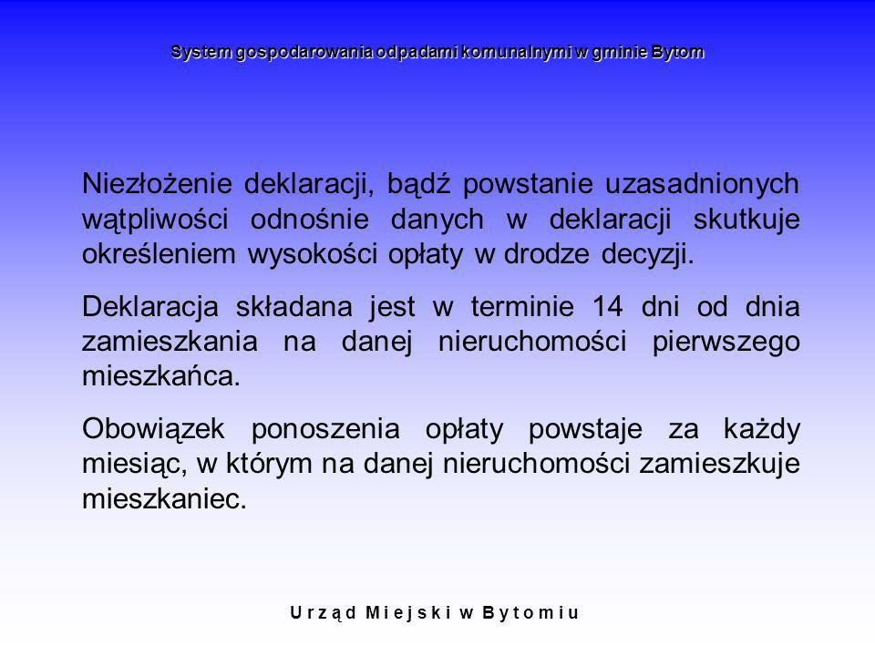 System gospodarowania odpadami komunalnymi w gminie Bytom