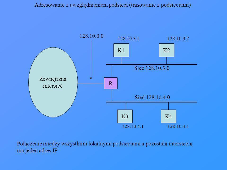 Adresowanie z uwzględnieniem podsieci (trasowanie z podsieciami)