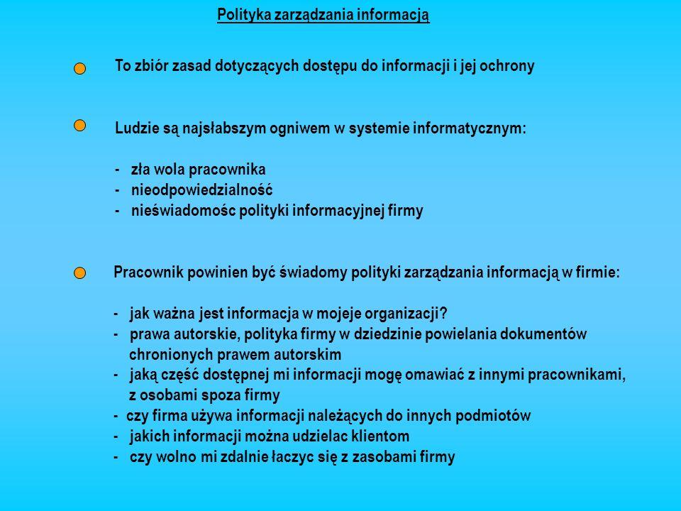 Polityka zarządzania informacją