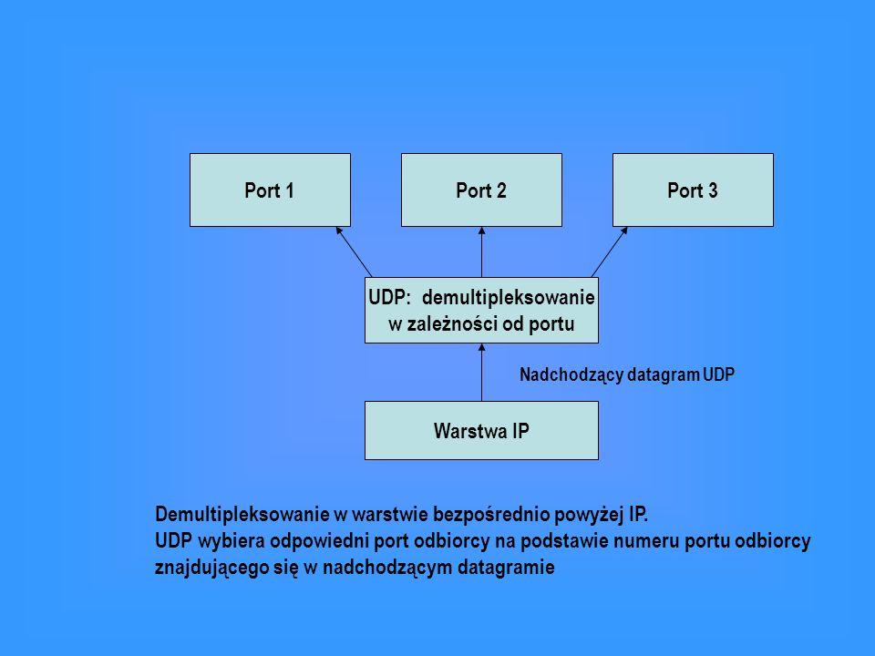 UDP: demultipleksowanie