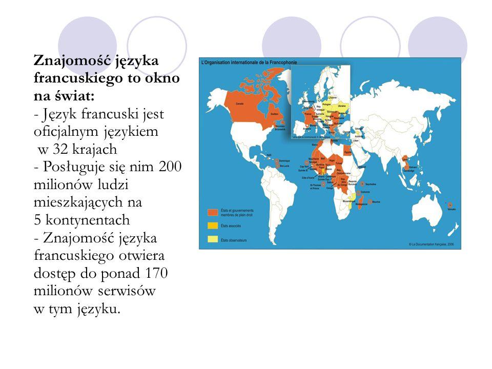 Znajomość języka francuskiego to okno na świat: