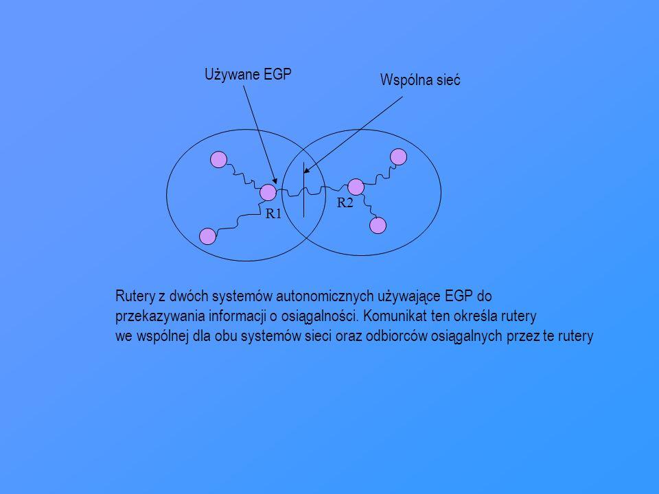 Rutery z dwóch systemów autonomicznych używające EGP do