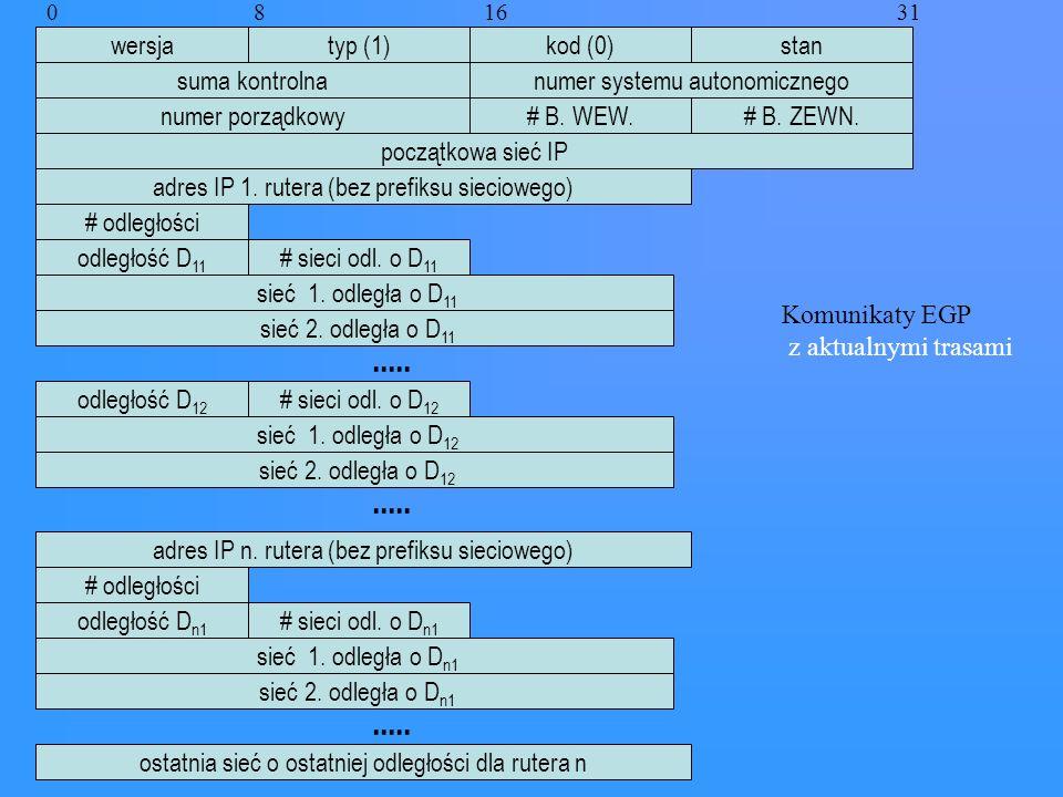 ..... ..... ..... wersja typ (1) kod (0) stan suma kontrolna
