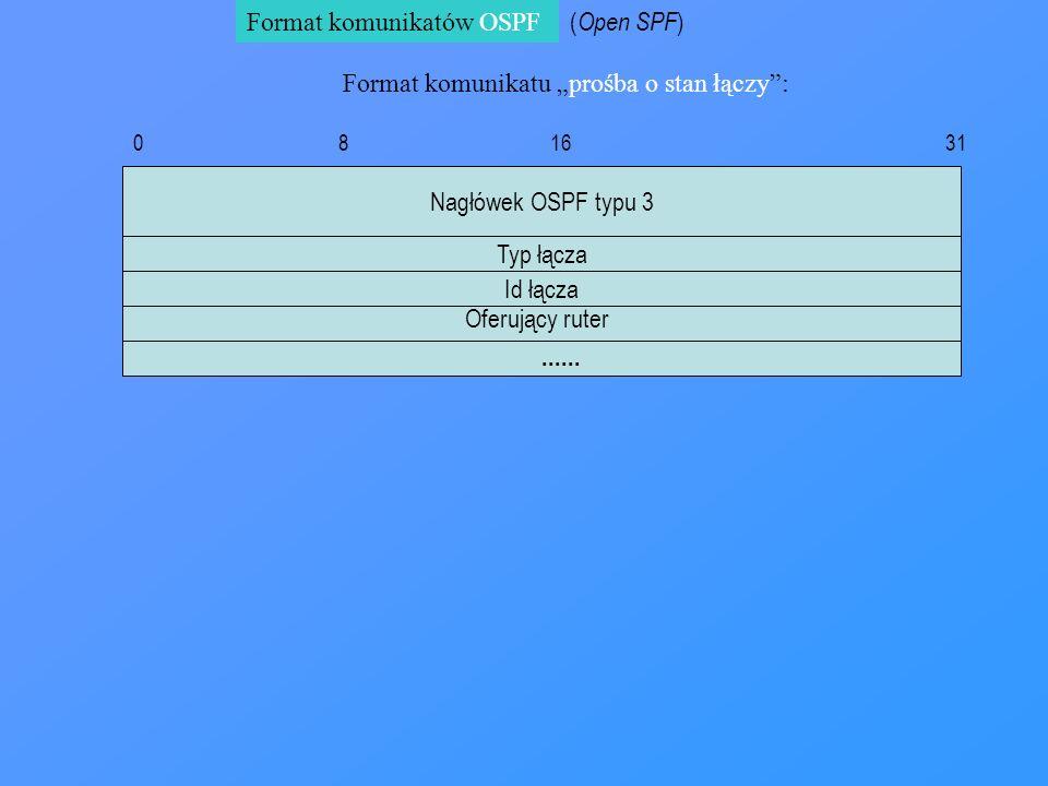 Format komunikatów OSPF (Open SPF)