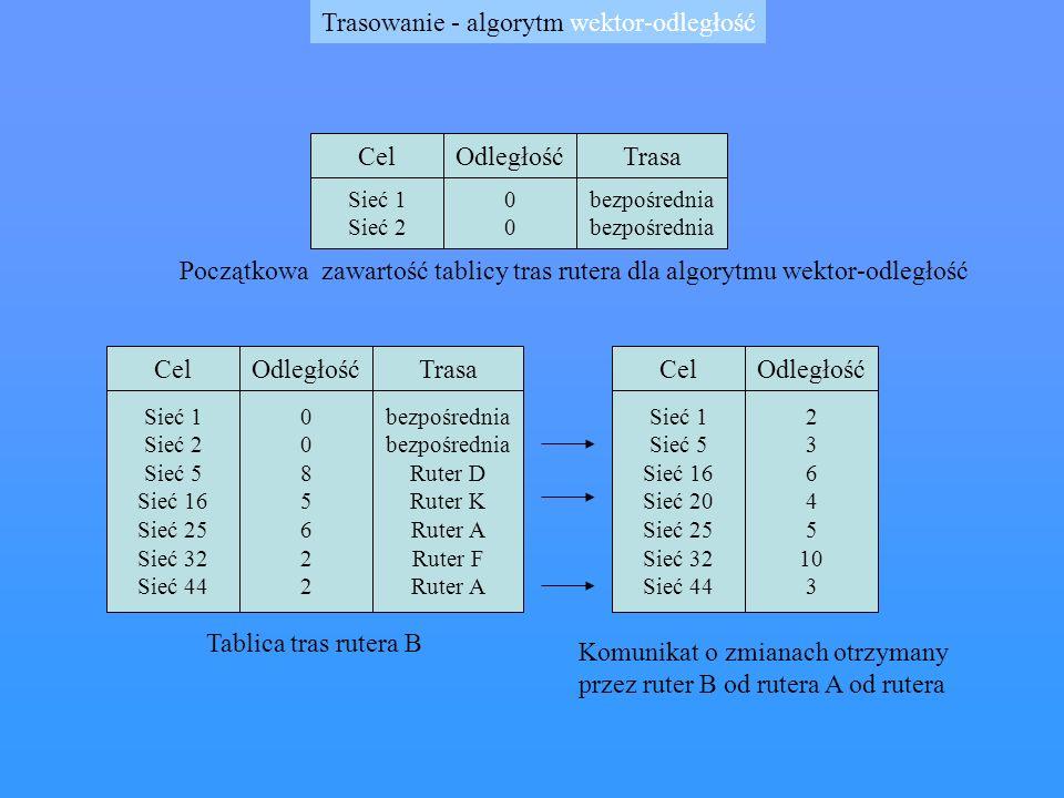 Trasowanie - algorytm wektor-odległość