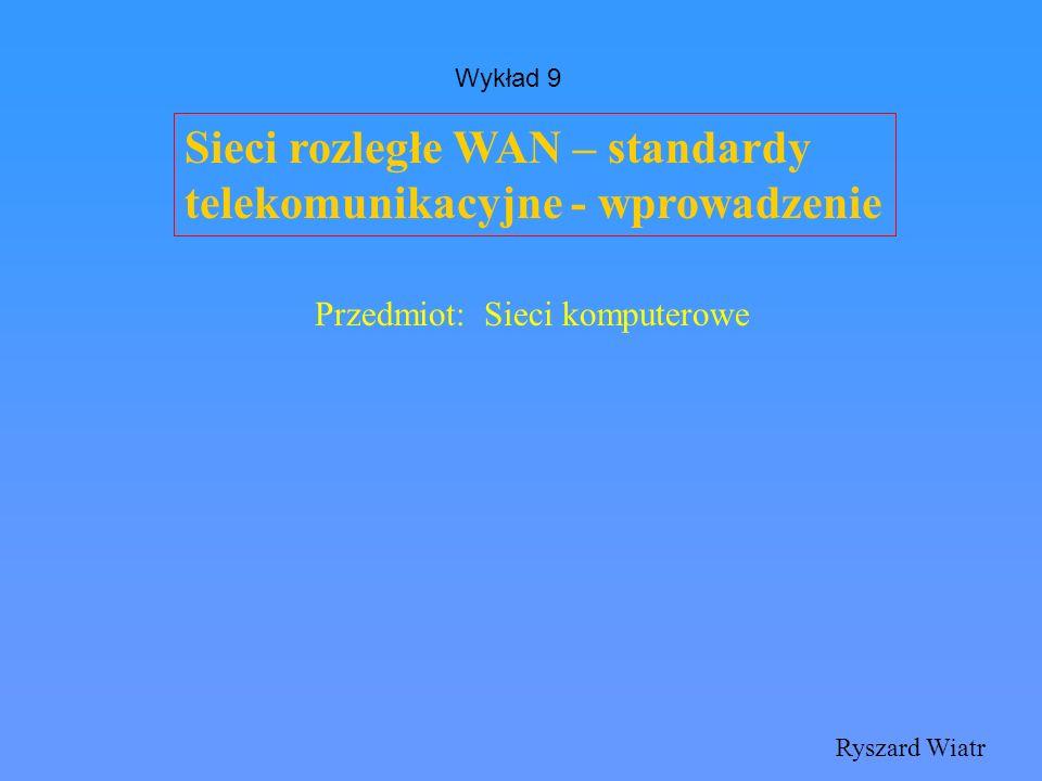 Sieci rozległe WAN – standardy telekomunikacyjne - wprowadzenie
