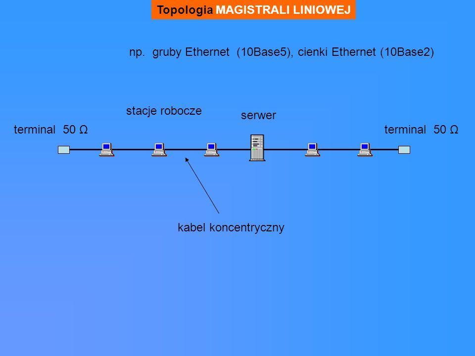 Topologia MAGISTRALI LINIOWEJ