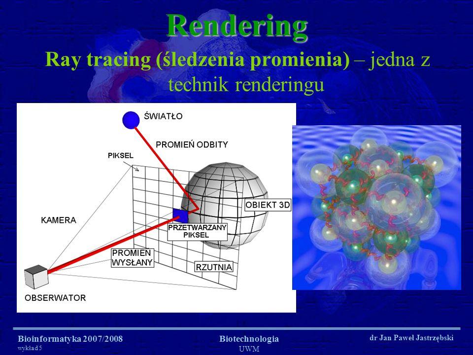 Ray tracing (śledzenia promienia) – jedna z technik renderingu