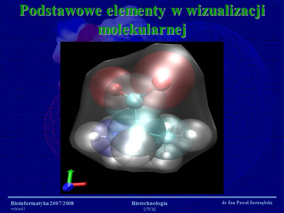 Podstawowe elementy w wizualizacji molekularnej