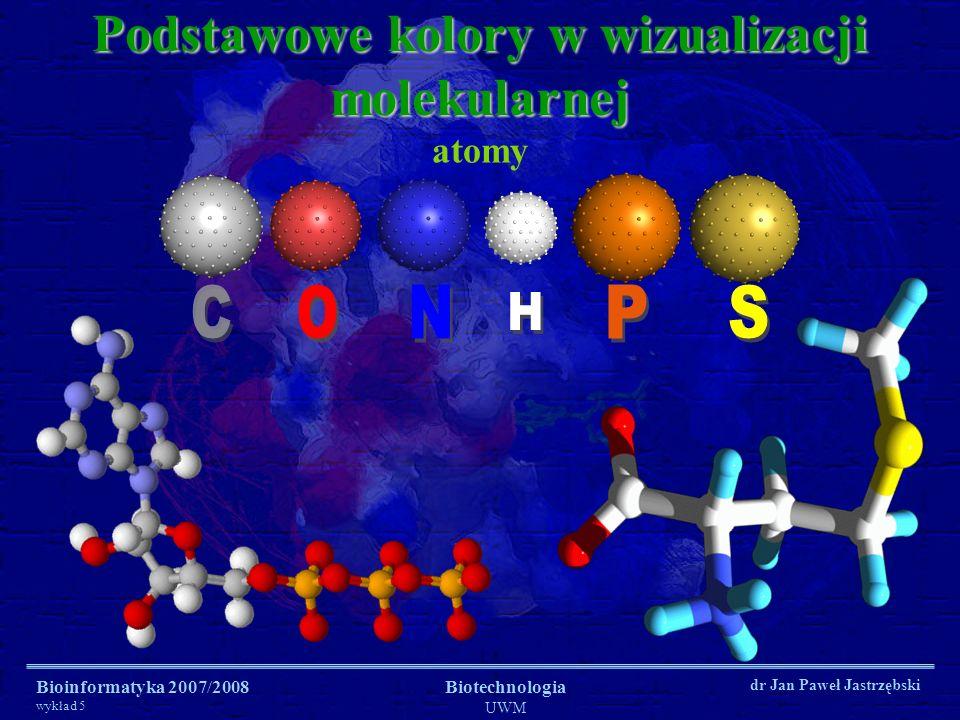 Podstawowe kolory w wizualizacji molekularnej