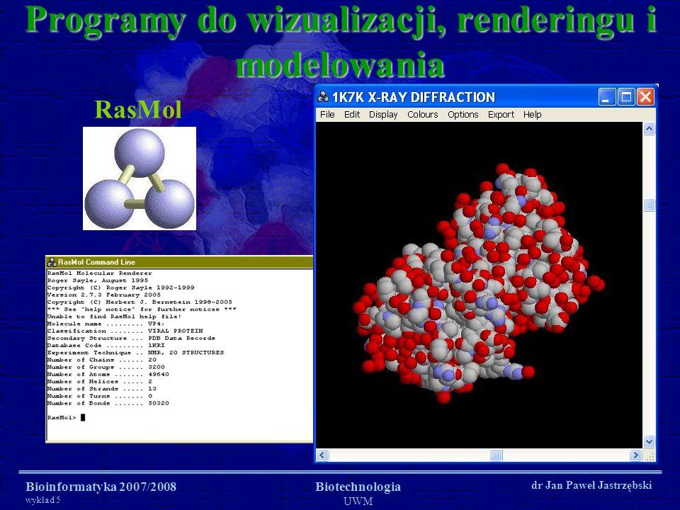 Programy do wizualizacji, renderingu i modelowania