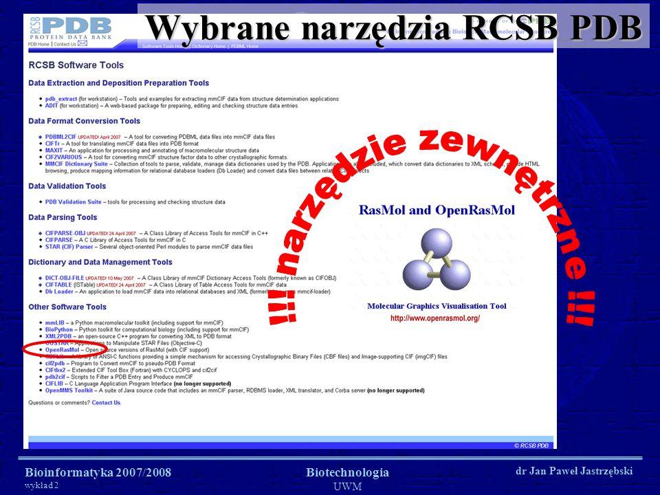 Wybrane narzędzia RCSB PDB