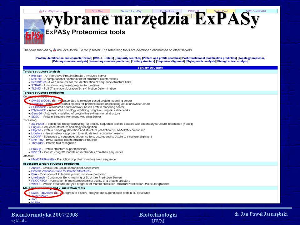 wybrane narzędzia ExPASy