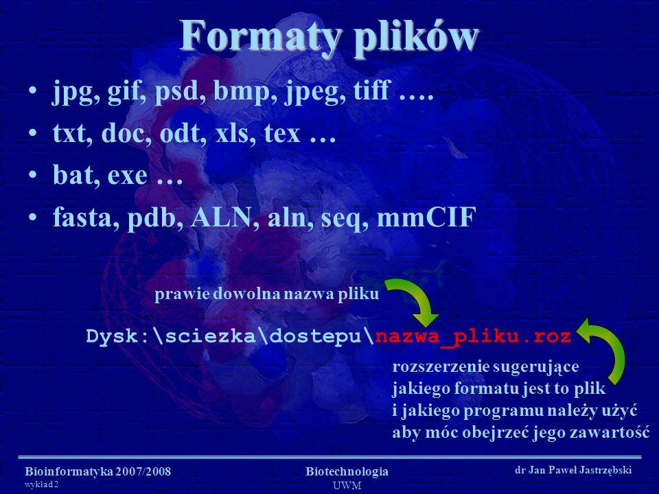 Formaty plików jpg, gif, psd, bmp, jpeg, tiff ….