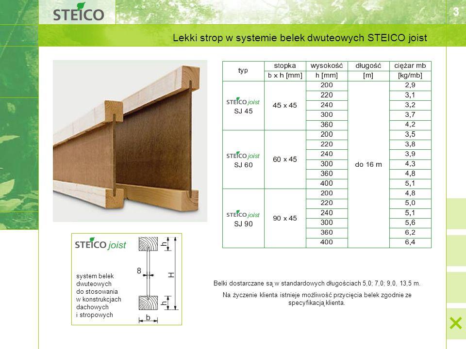3 Lekki strop w systemie belek dwuteowych STEICO joist system belek