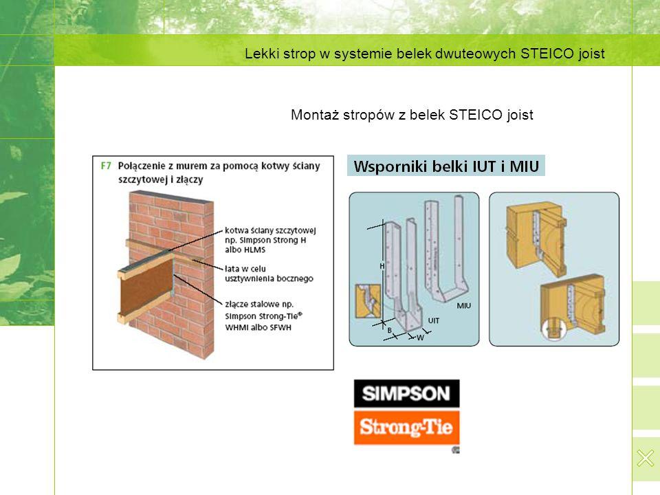 Montaż stropów z belek STEICO joist