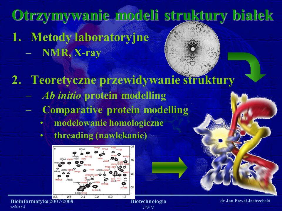 Otrzymywanie modeli struktury białek