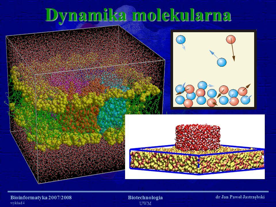 Dynamika molekularna Bioinformatyka 2007/2008 Biotechnologia UWM