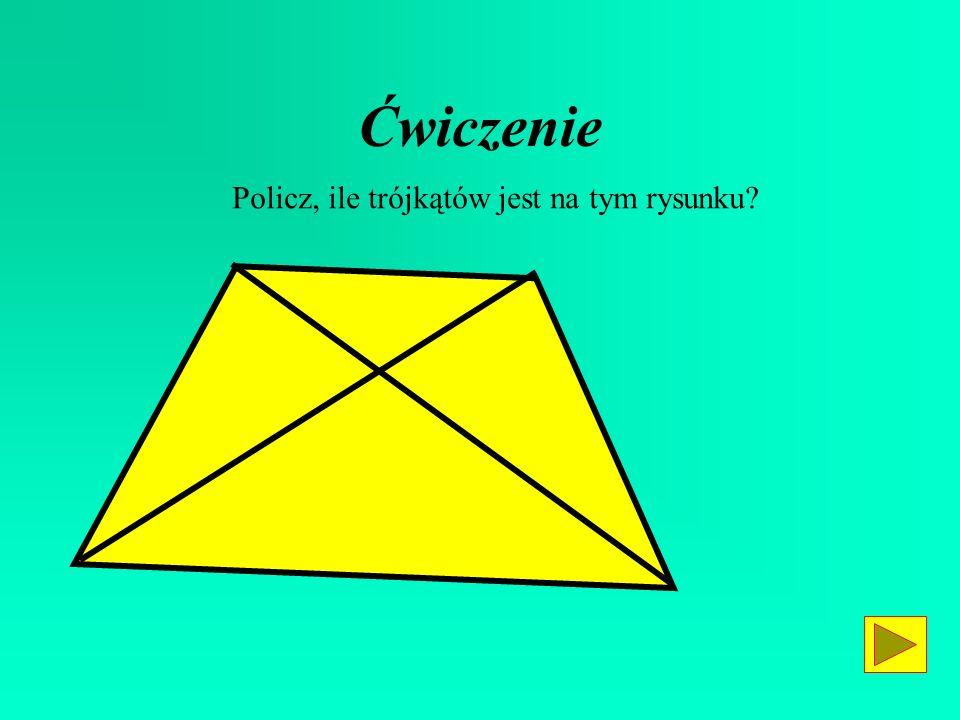 Ćwiczenie Policz, ile trójkątów jest na tym rysunku