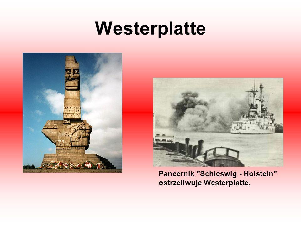 Westerplatte Pancernik Schleswig - Holstein ostrzeliwuje Westerplatte.