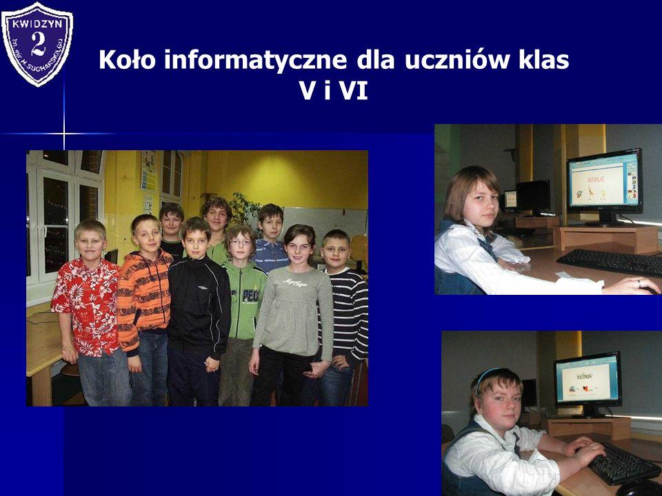 Koło informatyczne dla uczniów klas V i VI