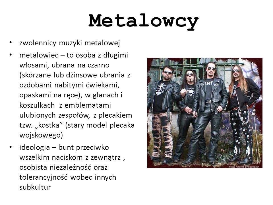 Metalowcy zwolennicy muzyki metalowej