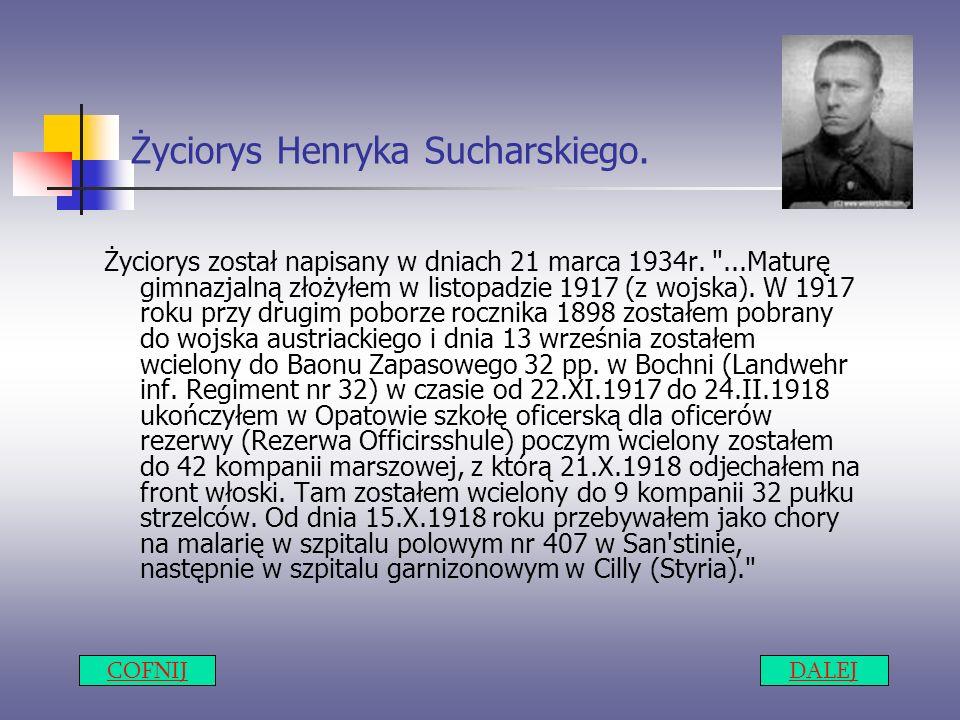 Życiorys Henryka Sucharskiego.