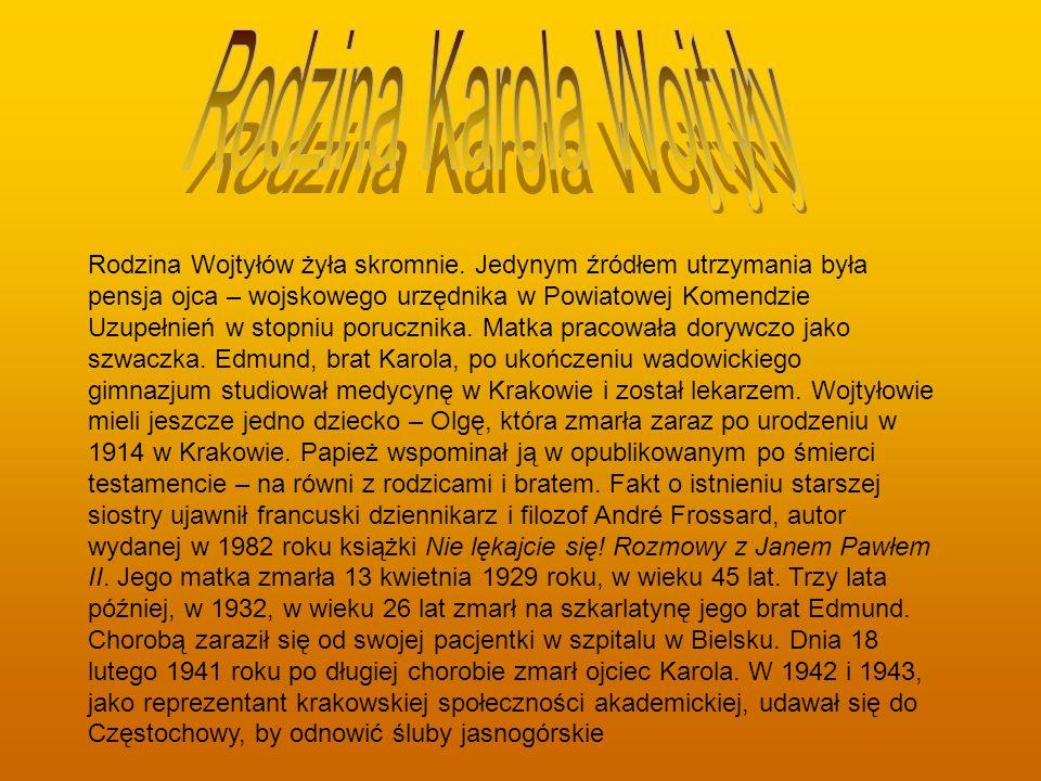 Rodzina Karola Wojtyły