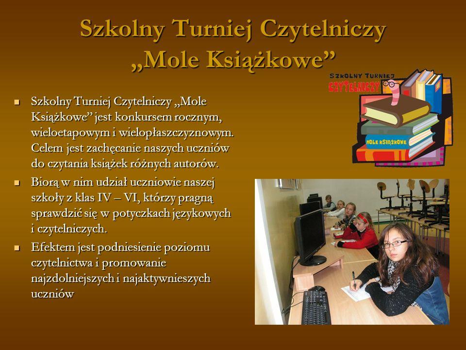"""Szkolny Turniej Czytelniczy """"Mole Książkowe"""
