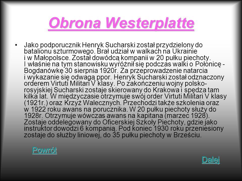 Obrona Westerplatte Powrót Dalej