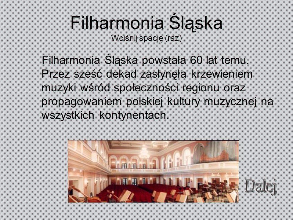 Filharmonia Śląska Wciśnij spację (raz)