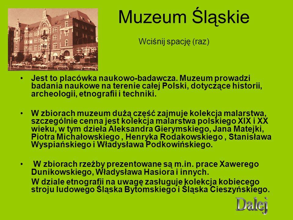 Muzeum Śląskie Wciśnij spację (raz)