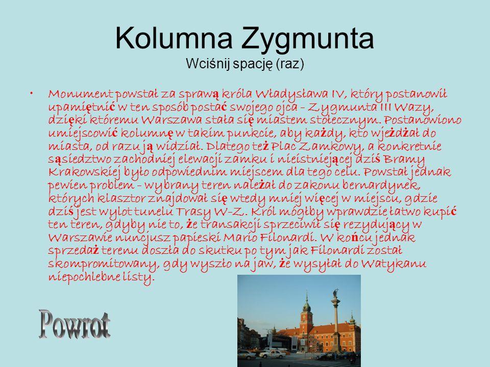 Kolumna Zygmunta Wciśnij spację (raz)