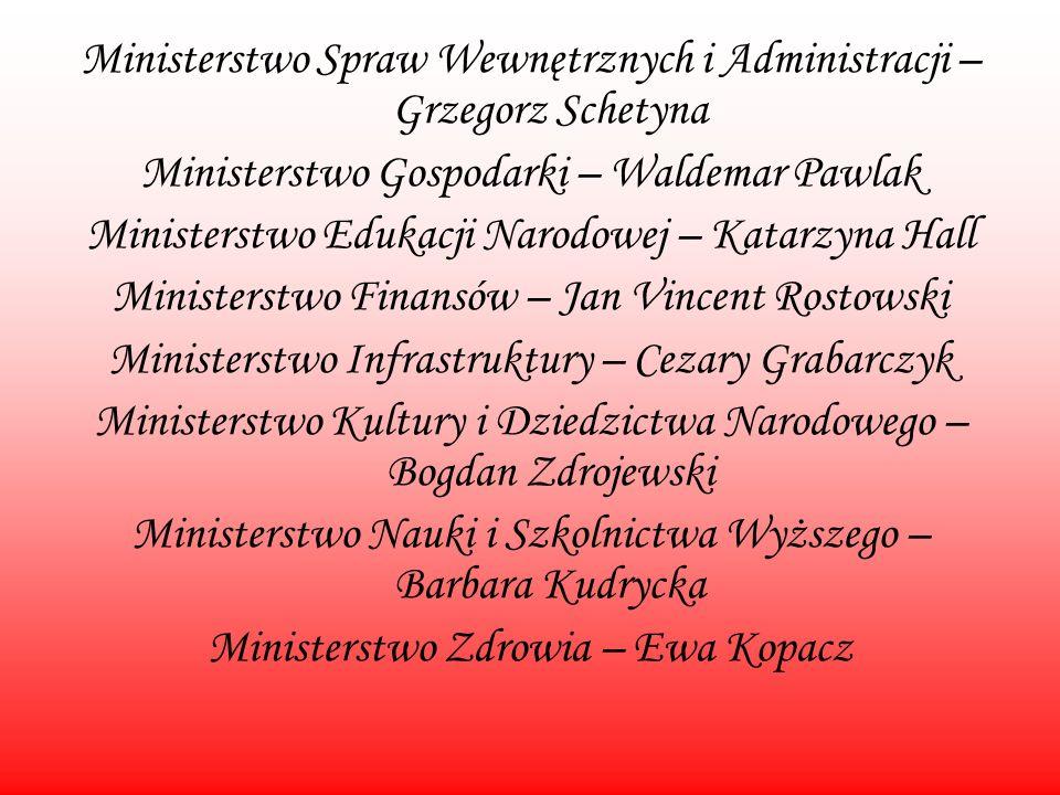 Ministerstwo Spraw Wewnętrznych i Administracji – Grzegorz Schetyna