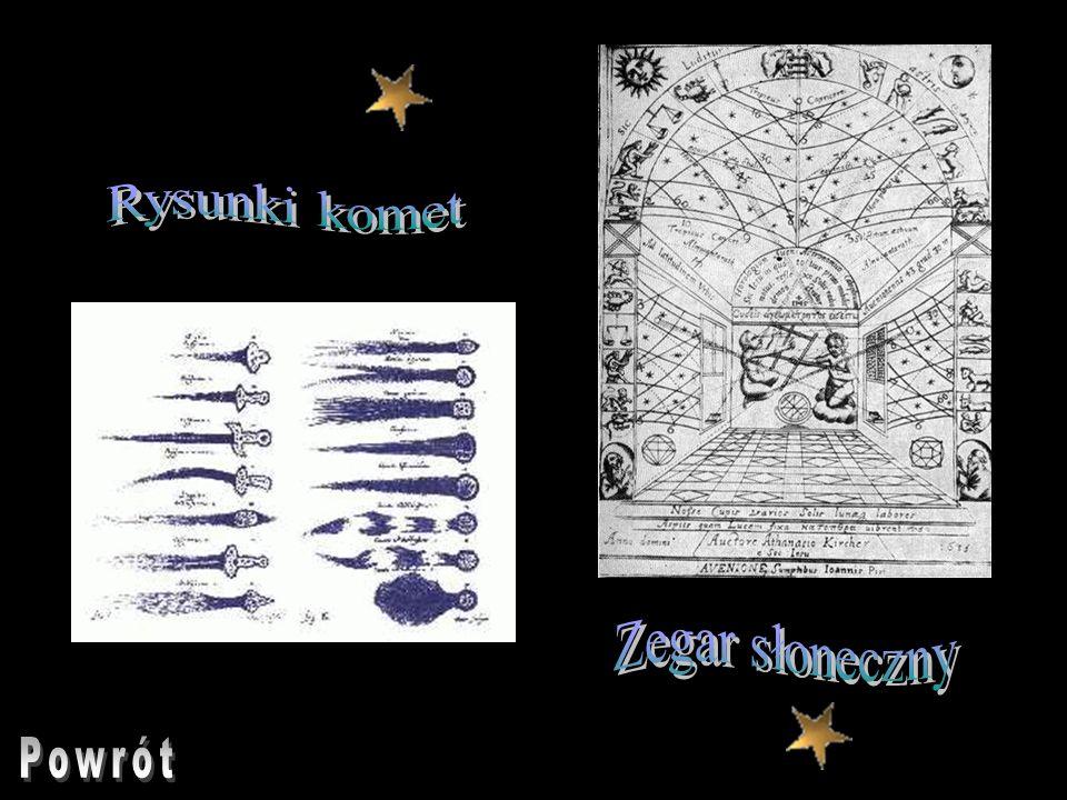 Rysunki komet Zegar słoneczny Powrót