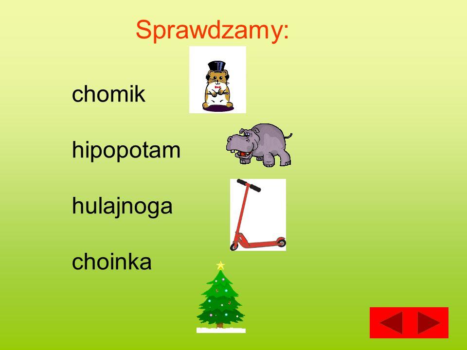 Sprawdzamy: chomik hipopotam hulajnoga choinka