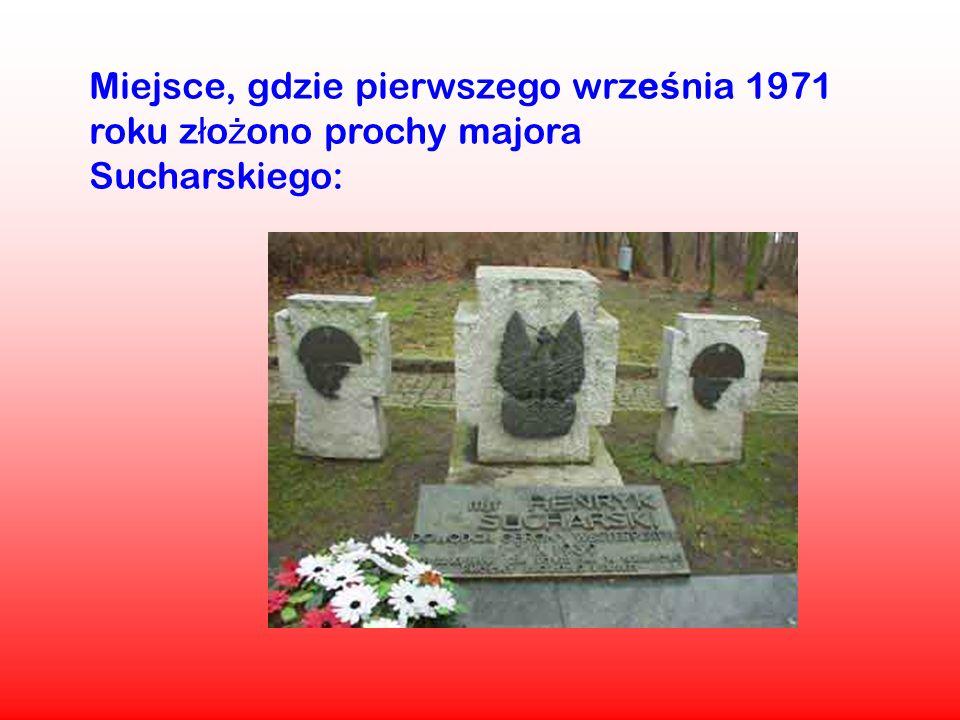 Miejsce, gdzie pierwszego września 1971 roku złożono prochy majora Sucharskiego: