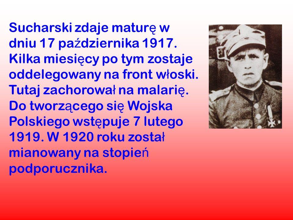 Sucharski zdaje maturę w dniu 17 października 1917