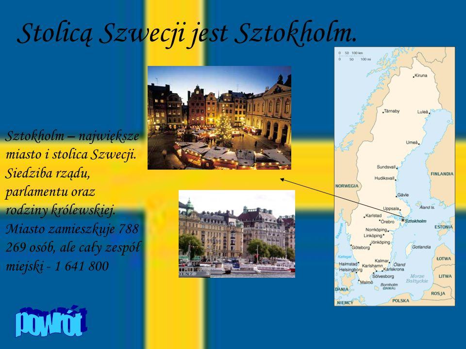 Stolicą Szwecji jest Sztokholm.