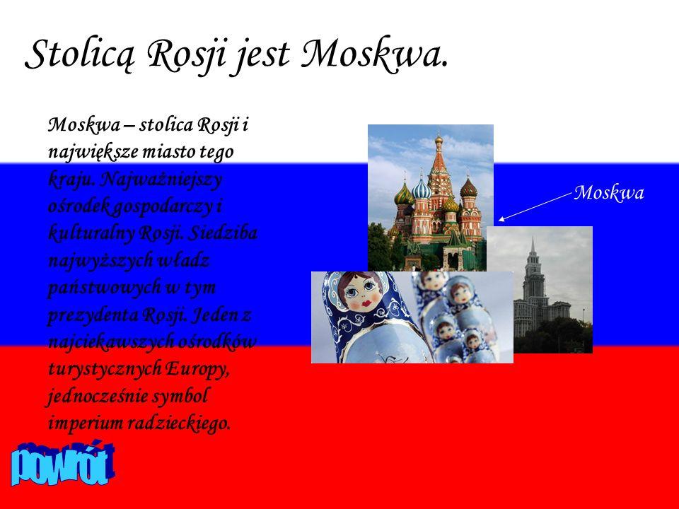 Stolicą Rosji jest Moskwa.