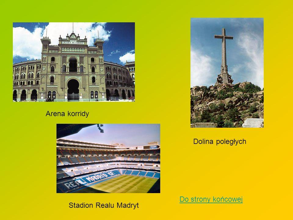 Arena korridy Dolina poległych Do strony końcowej Stadion Realu Madryt