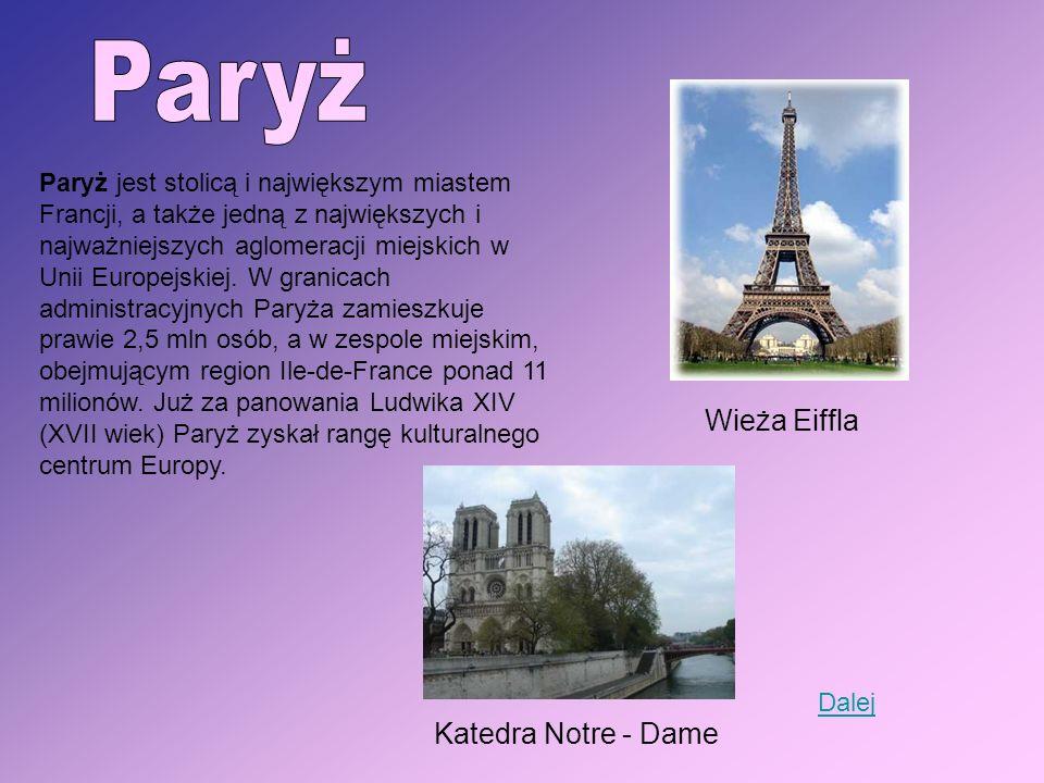 Paryż Wieża Eiffla Katedra Notre - Dame