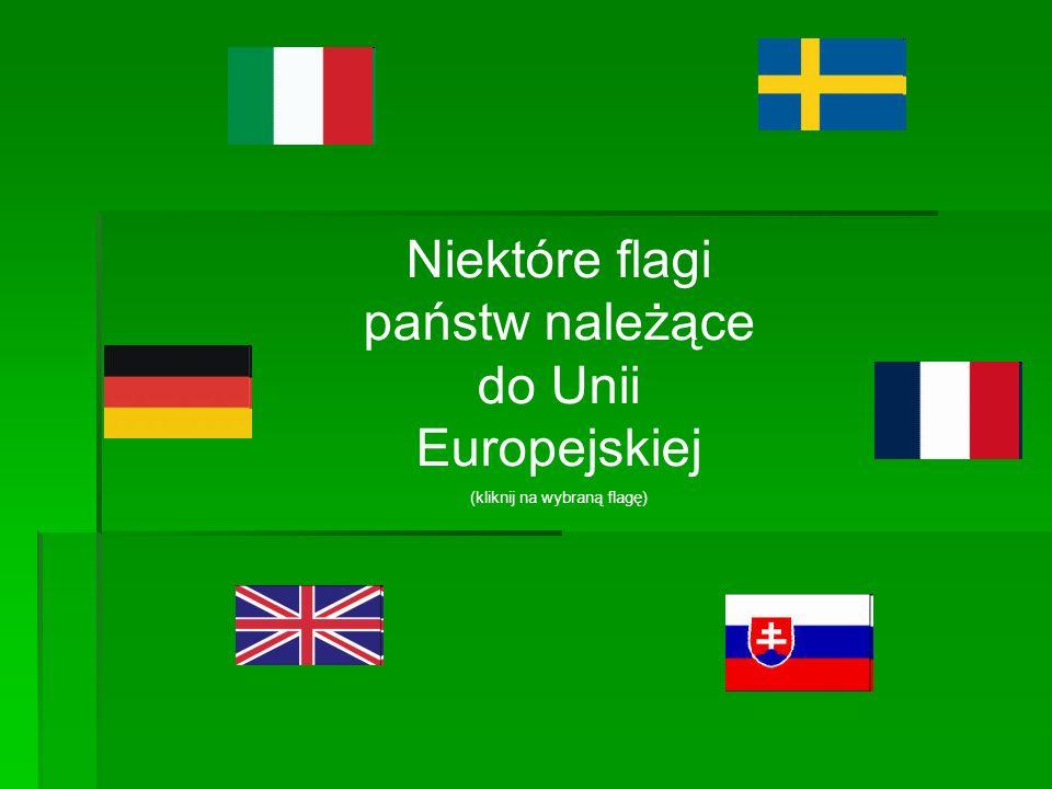 Niektóre flagi państw należące do Unii Europejskiej