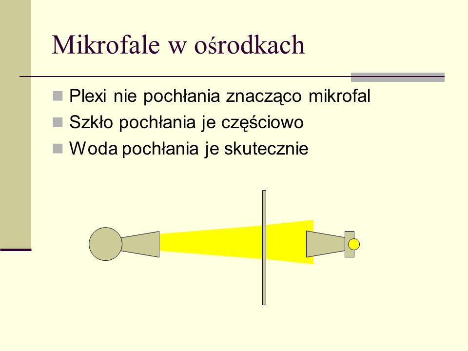 Mikrofale w ośrodkach Plexi nie pochłania znacząco mikrofal